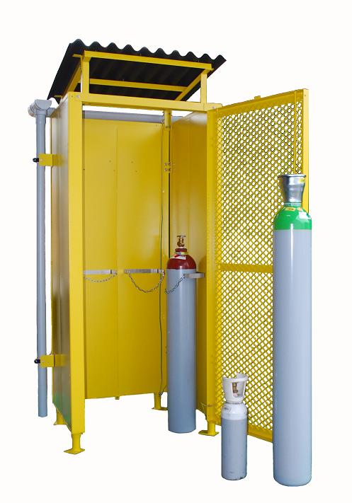 OUTDOOR GAS CYLINDER STORAGE