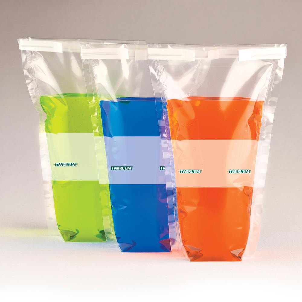 Twirlem Stand Up Sterile Sampling Bag
